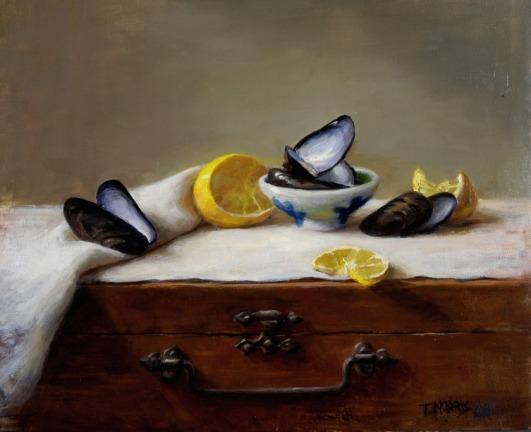 Mussel Shells with Lemon
