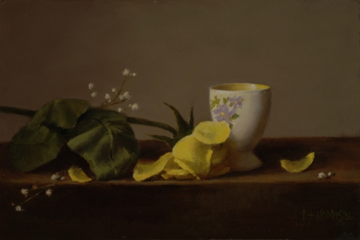 Yellow Rose and Egg Cup